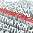 Workforce. Wordcloud Concept. — Stock Photo