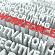 Stock Photo: Workforce. Wordcloud Concept.