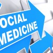 Stock Photo: Social Medicine on Blue Arrow.