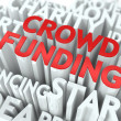 Stock Photo: Crowd Funding. Wordcloud Concept.