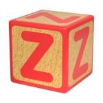 Letter Z on Childrens Alphabet Block. — Stock Photo #35513899