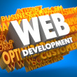 Stock Photo: Web Development. Wordcloud Concept.
