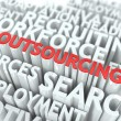Outsourcing. Wordcloud Concept. — Stock Photo