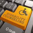 Disability Counseling on Keyboard Button. — Lizenzfreies Foto