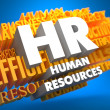 Human Resources. Wordcloud Concept. — Stock Photo