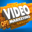 Video Marketing. Wordcloud Concept. — Stock Photo