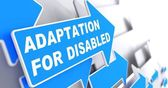 Adaptation for Disabled on Blue Arrow. — Stock Photo
