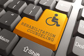 Rehabilitation Counseling for Disabled on Button. — Stock Photo