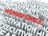 Workforce. Wordcloud Concept. — Stock Photo