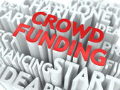 Crowd Funding. Wordcloud Concept. — Stock Photo