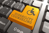Disability Counseling on Keyboard Button. — Stock Photo