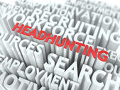Headhunting. Wordcloud Concept. — Stock Photo