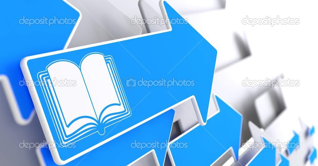 Open Book Icon Open Book Icon on Blue Arrow