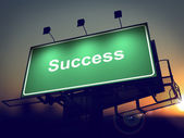 Success - Billboard on the Sunrise Background. — Stock Photo
