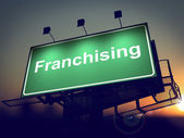 Franchising - Billboard on the Sunrise Background. — Stock Photo