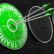 Training Concept on Green Target. — Foto Stock