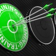 Training Concept on Green Target. — Stok fotoğraf