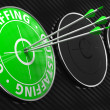 Outstaffing Concept on Green Target. — Stock Photo