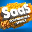 Stock Photo: SAAS. Wordcloud Concept.
