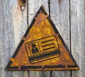 Icona id card sul cartello arrugginito. — Foto Stock