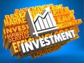 Investeringen. wordcloud concept. — Stockfoto