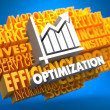 Optimization. Wordcloud Concept. — Stock Photo