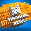 Stock Photo: Financial Result. Wordcloud Concept.