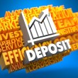 Deposit. Wordcloud Concept. — Stock Photo