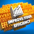 Improve Your Efficiency Concept. — Stock Photo
