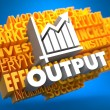 Foto Stock: Output. Wordcloud Concept.