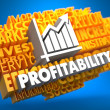 Stock Photo: Profitability. Wordcloud Concept.