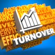 Stock Photo: Turnover. Wordcloud Concept.
