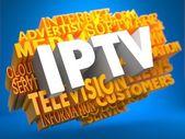 IPTV. Wordcloud Concept. — Stock Photo
