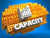 Capacity. Wordcloud Concept. — Stock Photo