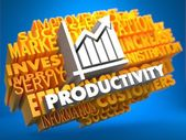 Productivity. Wordcloud Concept. — Stockfoto