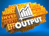 Output. Wordcloud Concept. — Stockfoto