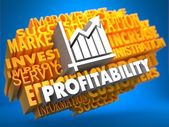Profitability. Wordcloud Concept. — Stock Photo