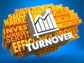 Turnover. Wordcloud Concept. — Stock Photo