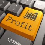 Profit on Orange Keyboard Button. — Stock Photo #36843079