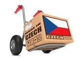 Einerseits Lkw in Tschechisch - Karton gemacht. — Stockfoto