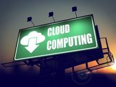Cloud Computing on Billboard. — Stok fotoğraf