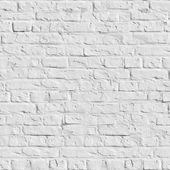 White Brick Wall - Seamless Texture. — Stock Photo