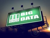 Big Data on Green Billboard at Sunrise. — Stock Photo