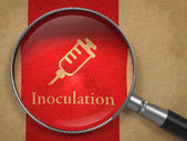Inoculation Concept: Magnifying Glass — Stock Photo