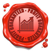 Profit Guaranteed - Stamp on Red Wax Seal. — Stock Photo