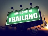 Welcome to Thailand Billboard at Sunrise. — Stock Photo