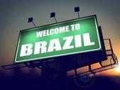Welcome to Brazil Billboard at Sunrise. — Stock Photo