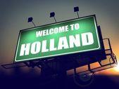 Bem-vindo ao billboard holanda ao nascer do sol. — Fotografia Stock