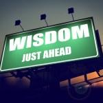 Wisdom Just Ahead on Green Billboard. — Stock Photo #38625949