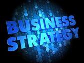 Business Strategy on Dark Digital Background. — Stock Photo